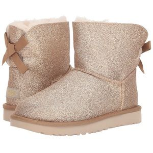 UGG® Women's Mini Bailey Bow Sparkle Boot NWOB